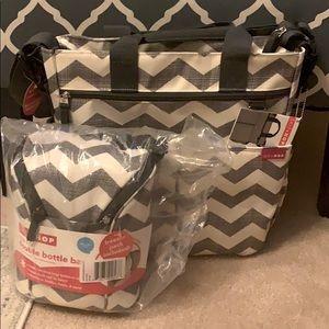 Skip Hop Diaper Bag & double Bottle Bag